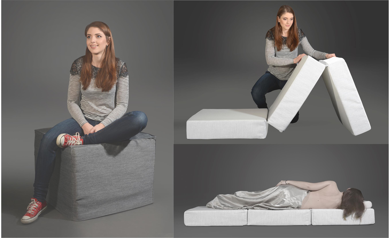 sofahocker faltbett st fner stein metanoia m bel. Black Bedroom Furniture Sets. Home Design Ideas