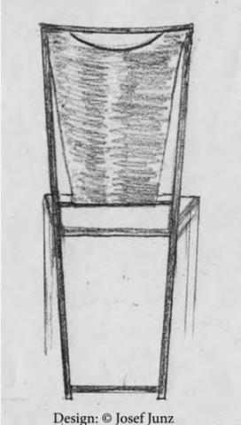 Stuhl Lena - Erster Entwurf
