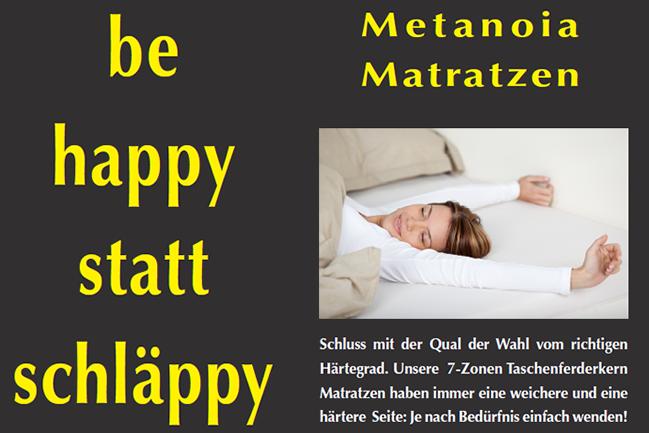 Metanoia Plakatkampagne 7-Zonen-Taschenfederkern-Matratze
